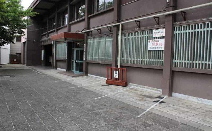 阿倍王子神社の駐車場です。