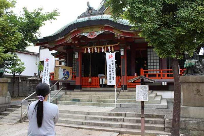 阿倍王子神社の拝殿です。