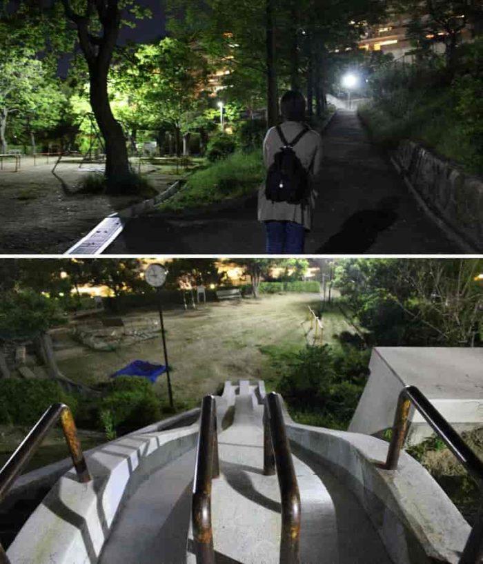 見るからに怖そうなジャンボ滑り台です。