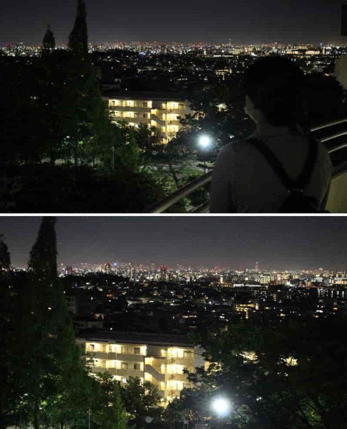 芦屋市を中心とした阪神間の夜景です。