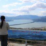 弁天山展望台で眺める天橋立です。