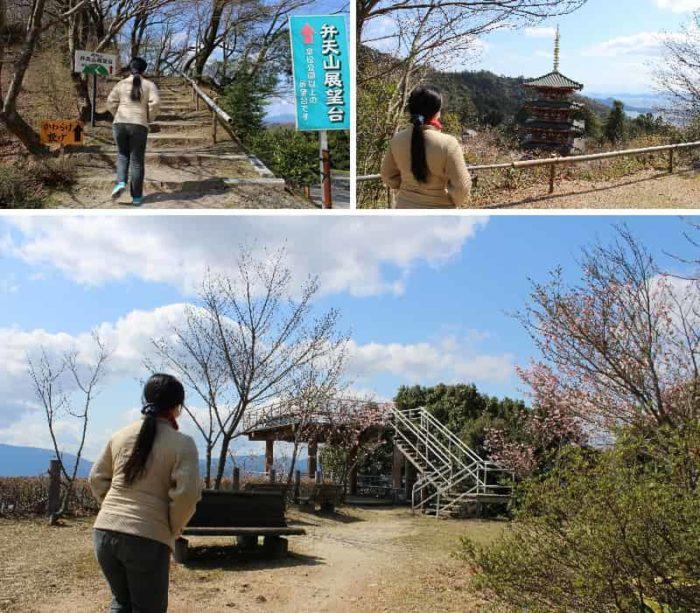 弁天山展望台に到着です。