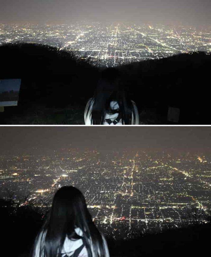 180度に広がるパノラマ夜景です。