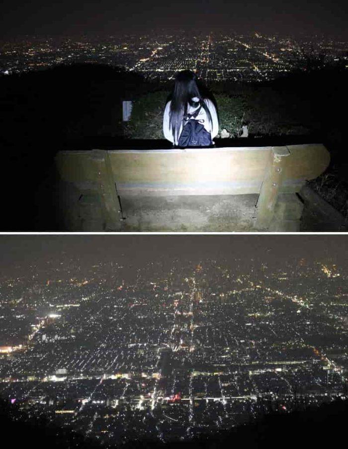 特等席より夜景を眺められます。