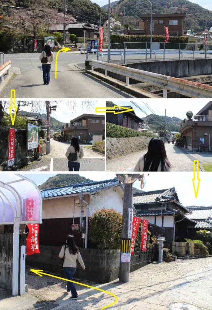 紀州街道より地福寺へ向かいます。