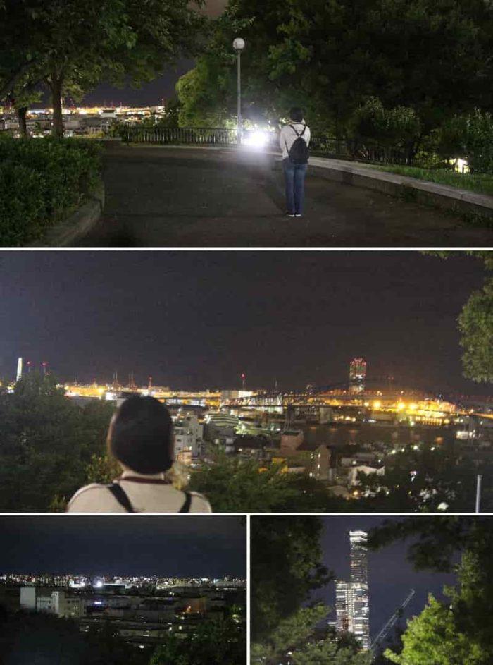 360度に夜景が展開されています。