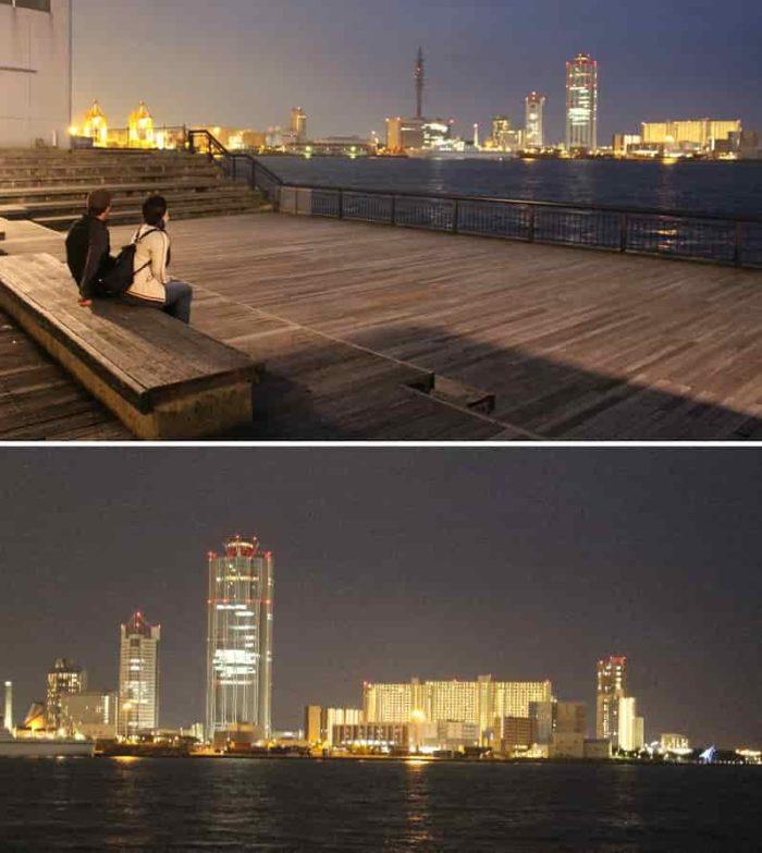 大阪ベイエリアの夜景です