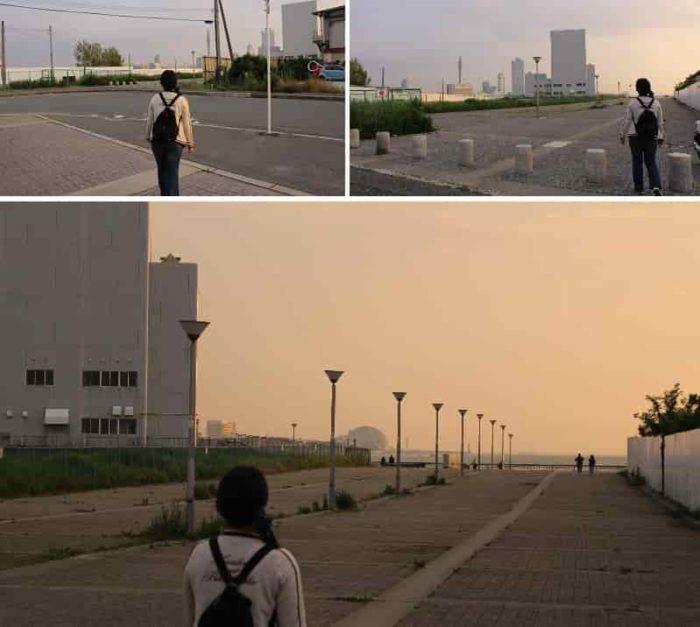 『中央突堤』の遊歩道です。
