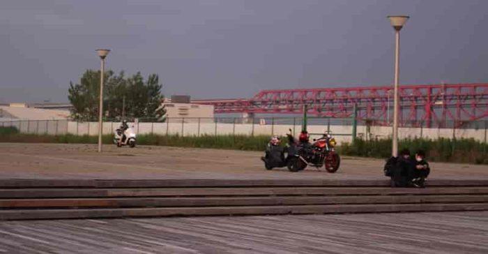バイク乗り入れ禁止となります。