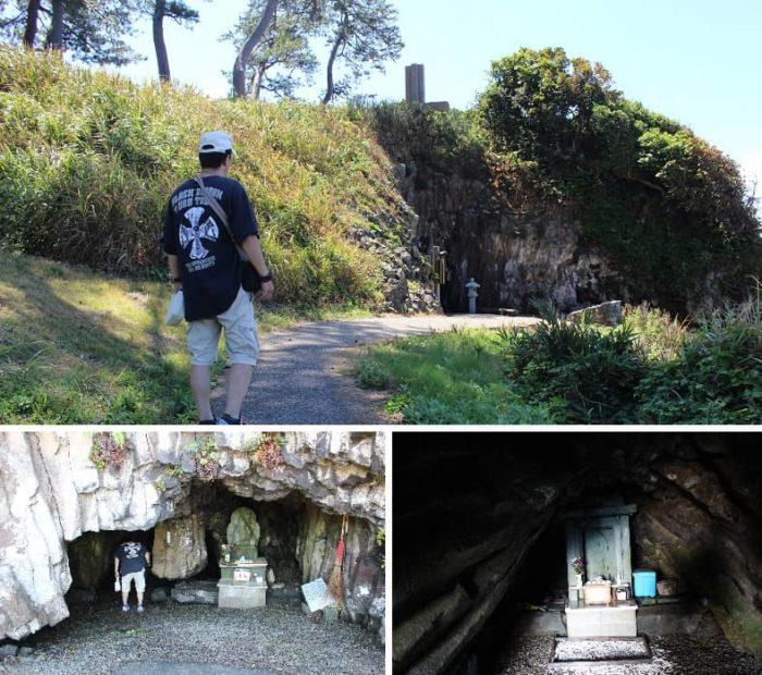 松島三洞穴のひとつ聖り穴です。