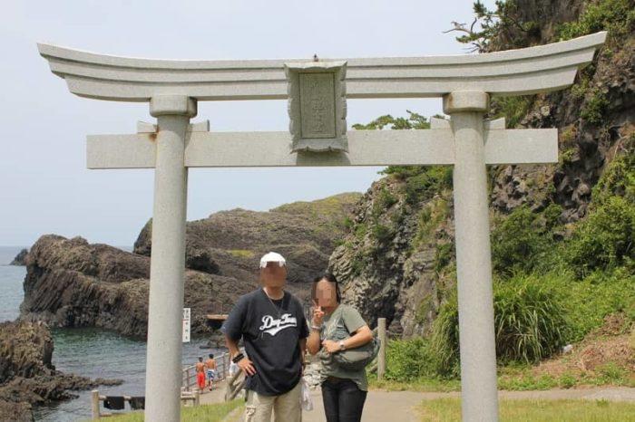 松島観音堂へ続く石の鳥居です。