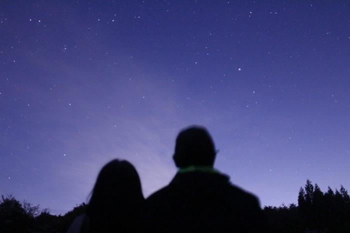 フォレストパーク神野山で眺める星空です。