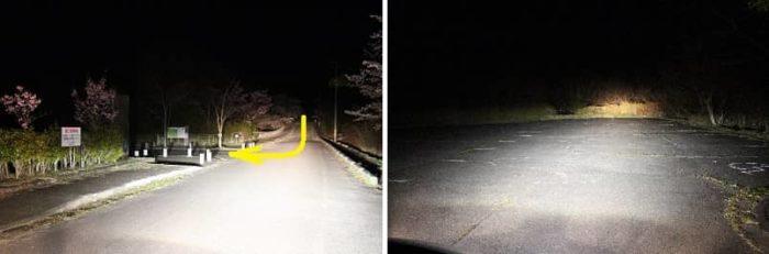 深夜の山添村神野山駐車場です。