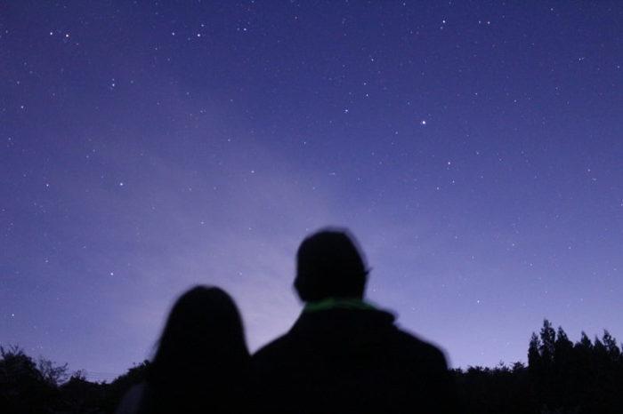 フォレストパーク神野山にて望む星空です。