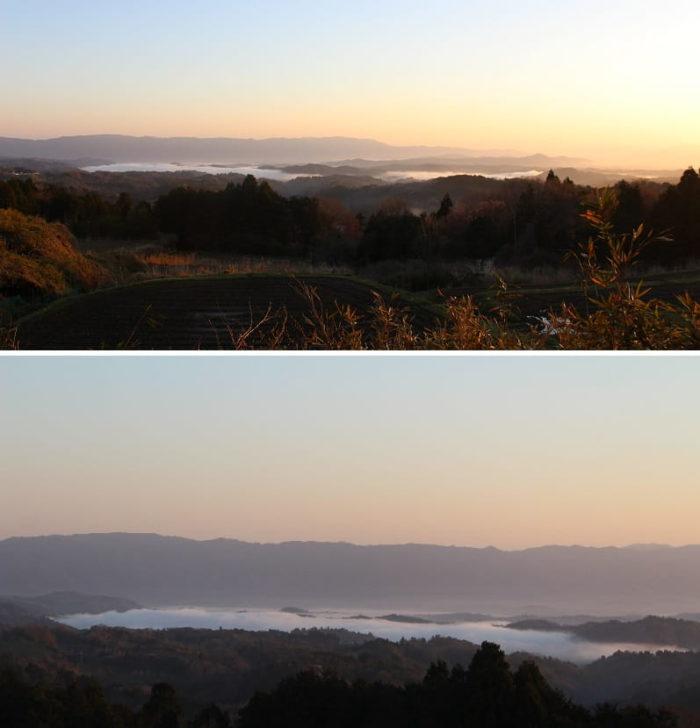 フォレストパーク神野山で望む雲海です。