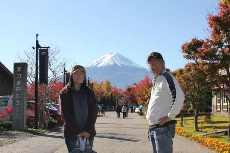 河口湖で見た富士山の絶景です。