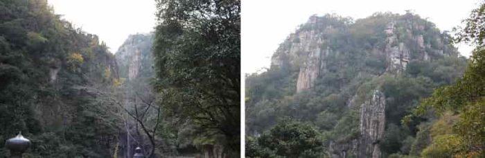奇岩と断崖絶壁が織りなす景色です。