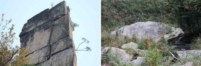 落ちる可能性のある断崖上の奇岩です。