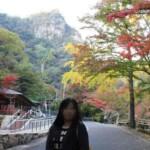 豪渓の紅葉の風景です。
