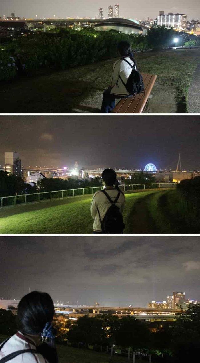 360度に広がる夜景を楽しめます。