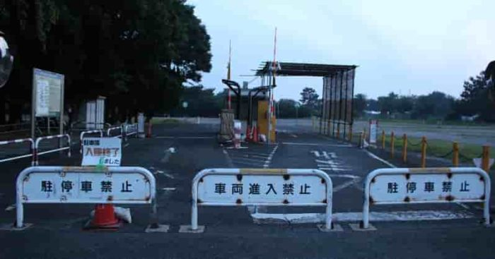 浜寺公園の「第1駐車場」です。