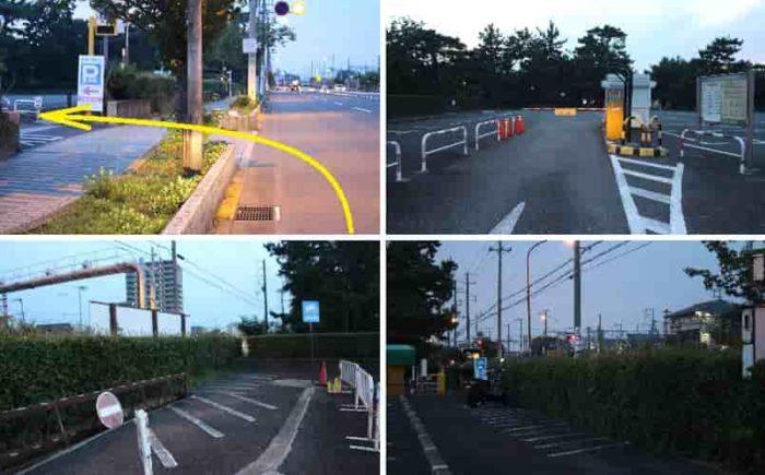 浜寺公園の「第2駐車場」です。