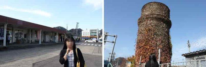 JR浜坂駅の西側にある給水塔です。
