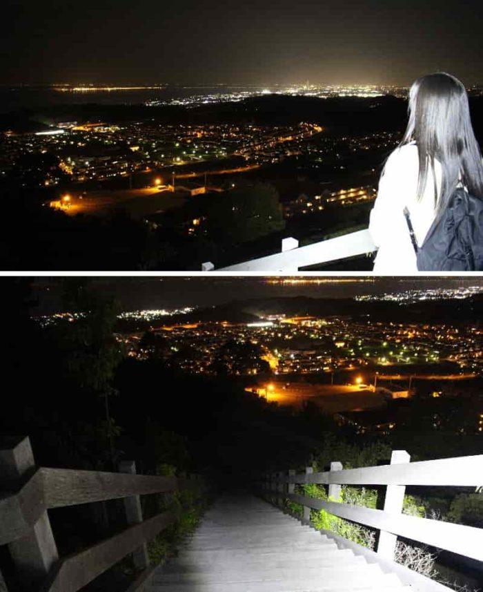 随所で少しずつ変わる夜景です。
