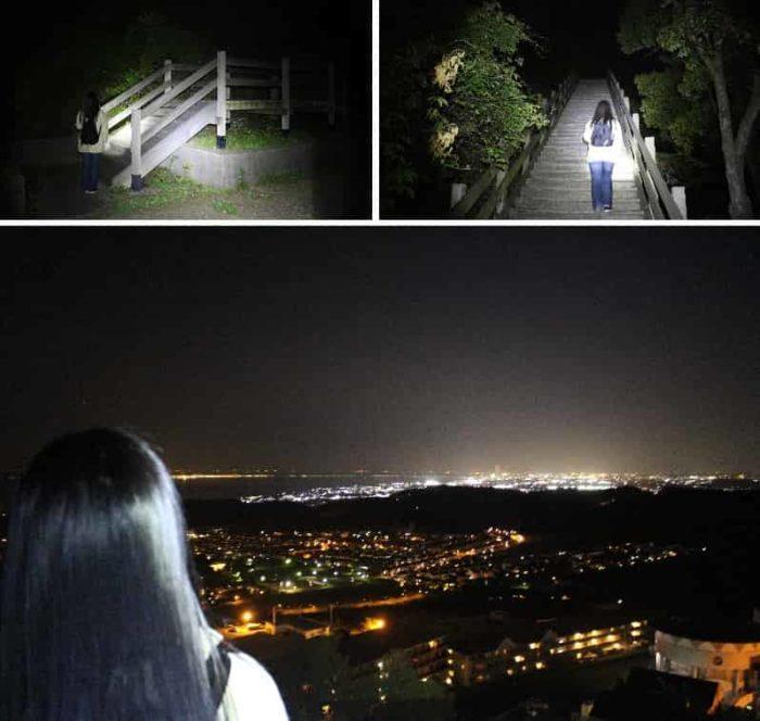 2つ目の展望スペースより望む夜景です。