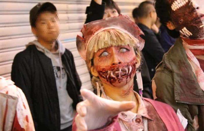 戎橋の「ハロウィン仮装イベント」です。