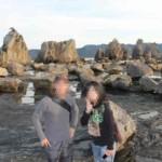 干潮時の『橋杭岩』の景観です。