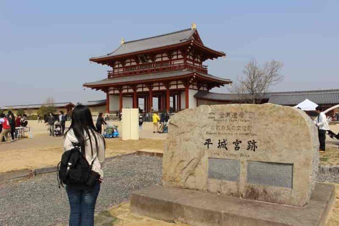 平城宮跡の世界文化遺産の『石碑』です。