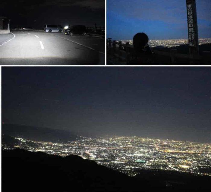標高645mから望む大パノラマ夜景です。