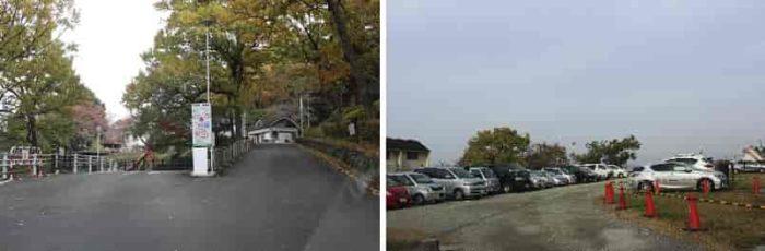 枚岡公園の無料の駐車場です。