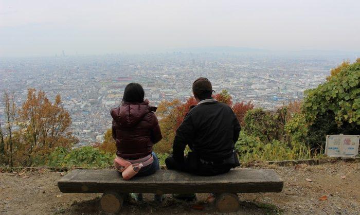 枚岡公園にある展望台より望む景色です。