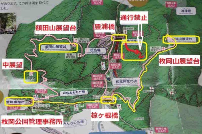 園内の『ハイキングマップ』です。