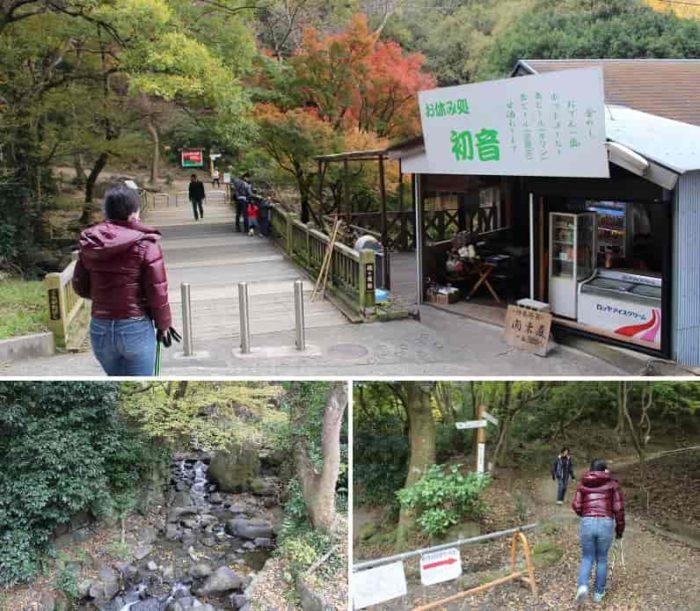 椋ヶ根橋より登山道へと入ります。