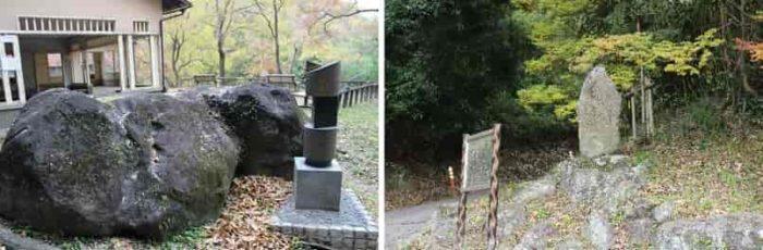 『長持石』と『松尾芭蕉』の句碑です。