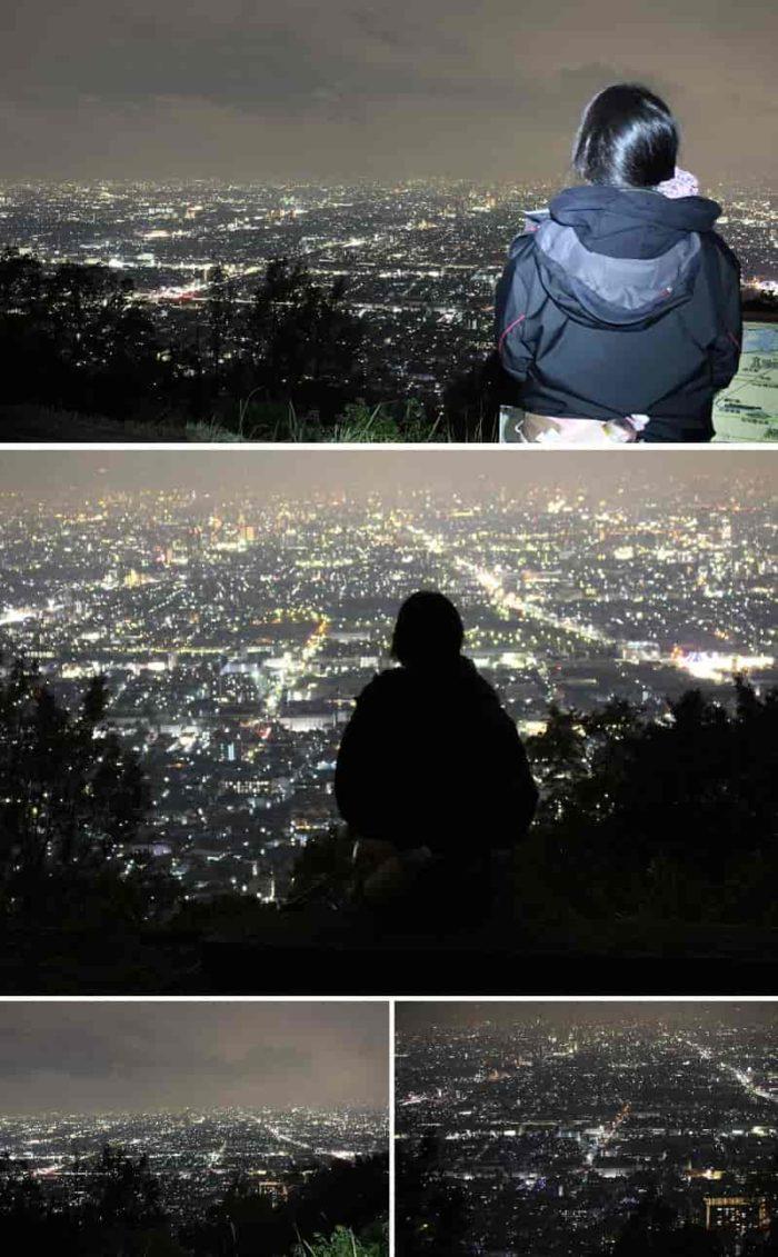 枚岡山展望台から眺める景色です