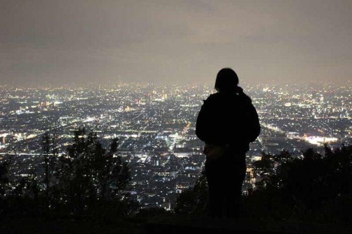 枚岡山展望台より望む夜景です。