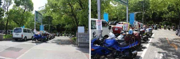 バイク置場のある「森ノ宮駐車場」です。
