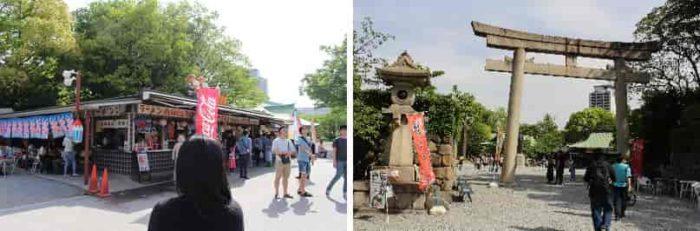 軽食屋の左横が豊國神社です。