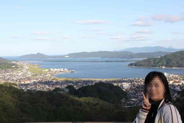 展望台から眺める天橋立です。