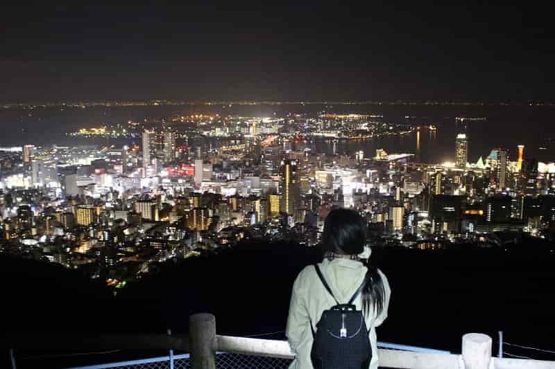 錨山展望台から眺める夜景です。