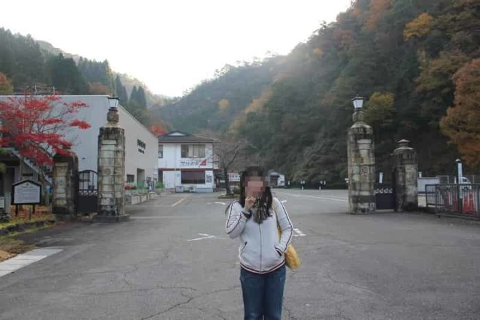 生野銀山の正門前です。