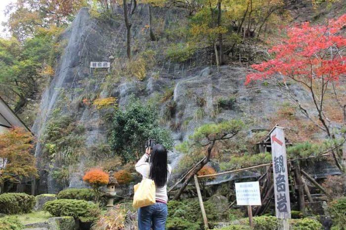 見どころのひとつ観音岩です。