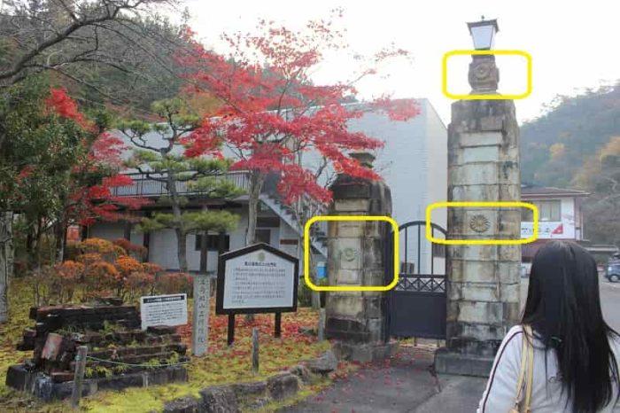 正門となる菊の門柱です。