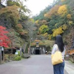 生野銀山の坑道に続く遊歩道です。