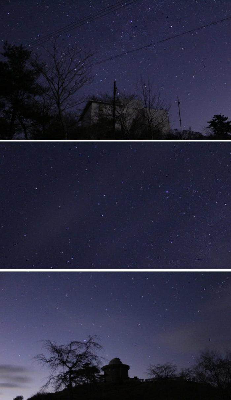 夜空を埋め尽くす満天の星空です。
