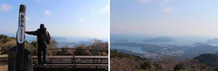 朝熊山頂展望台からの景色です。